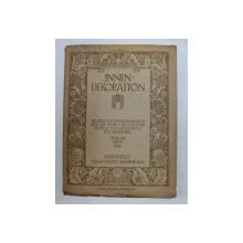 INNEN - DEKORATION - DIE GESAMTE WOHNUNGSKUNST IN BILD UND WORT von HOFRAT ALEXANDER KOCH , XXV JAHRGANG , FEBRUAR HEFT , 1914