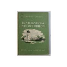 INSILOZAREA NUTRETURILOR de G. MARINESCU si C. PETRESCU, 1957