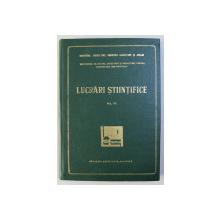 INSTITUTUL DE STUDII , CERCETARI SI PROIECTARI PENTRU CONSTRUCTII HORTIVITICOLE - LUCRARI STIINTIFICE , VOLUMUL III  , 1972