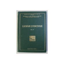 INSTITUTUL DE STUDII , CERCETARI SI PROIECTARI PENTRU CONSTRUCTII HORTIVITICOLE - LUCRARI STIINTIFICE , VOLUMUL IV , 1973