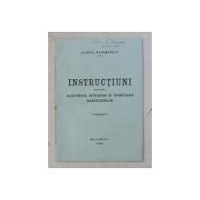 INSTRUCTIUNI PENTRU ALCATUIREA , REDIJAREA SI TRIMITEREA MANUSCRISELOR - GAZETA MATEMATICA , 1921