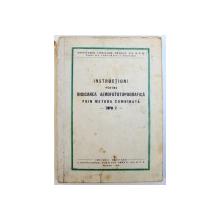 INSTRUCTIUNI PENTRU RIDICAREA AEROFOTOTOPOGRAFICA  PRIN METODA COMBINATA - TOPO 2 - , 1953