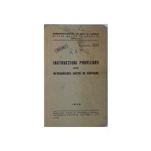 INSTRUCTIUNI PROVIZORII PENTRU INTREBUINTAREA AVIATIEI DE VANATOARE, 1942