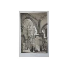 Interior de biserica, Manastirea Sf. Treime, 23 Septembrie 1839