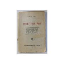INTERPRETARI de MIHAI D. RALEA , 1927