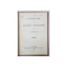 INTRODUCERE IN STUDIUL GEOGRAFIEI de S. MEHEDINTI , 1904