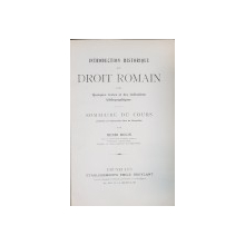 INTRODUCTION HISTORIQUE AU DROIT ROMAIN par HENRI ROLIN - BRUXELLES