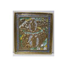 Invierea Domnului, Icoana din bronz si email policrom, Rusia sec. XIX