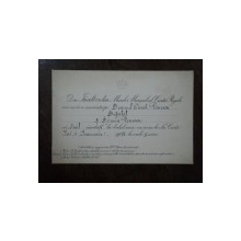 Invitatie la Balul de Anul Nou pentru deputatul Constantin Penescu, 1 Ianuarie 1904