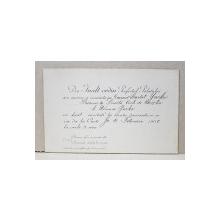 INVITATIE LA BALUL DE LA PALAT, TRIMISA DE PREFECTUL PALATULUI, JOI 10 FEBRUARIE, 1900