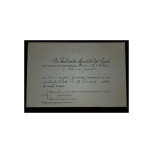 Invitatie la Serata Dansanta - 29 Ianuarie 1904
