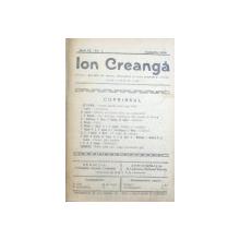 ION CREANGA  - REVISTA DE LIMBA , LITERATURA SI ARTA POPULARA , ANUL IX , No. 1 -  8  , IANUARIE  -  AUGUST , LEGATE IMPREUNA , 1916