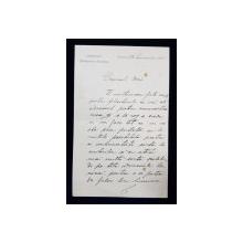 Ion Kalinderu, Scrisoare datata 28 Ianuarie 1886