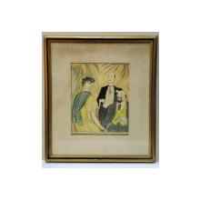 IOSIF ISER (1881-1958) - SCENA MONDENA