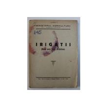 IRIGATII ( MANUAL PENTRU SCOLILE DE CALIFICARE ) , 1951