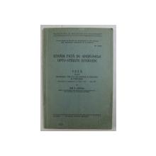 ISTERIA FATA DE SINDROMELE OPTO - STRIATE ISTEROIDE , TEZA PENTRU OBTINEREA TITLULUI DE DOCTOR IN MEDICINA de ION P. TINTEA , 1934 , DEDICATIE*