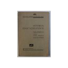 ISTORIA EDUCATIEI FIZICE - PLAN ANALITIC AL CURSULUI PREDAT de CONST . KIRITESCU , 1936