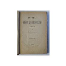 ISTORIA LIMBEI SI LITERATUREI ROMANE de AR. DENSUSIANU , 1885