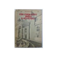 ISTORIA LITERATURII DRAMATICE ROMANESTI SI A ARTEI SPECTACOLULUI de VIRGIL BRADATEANU, 1982