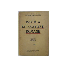 ISTORIA LITERATURII ROMANE DELA INCEPUT PANA ASTAZI de LUCIAN PREDESCU , 1939