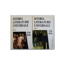 ISTORIA LITERATURII UNIVERSALE de OVIDIU DRIMBA , VOL. I - II , 1998 , DEDICATIE*
