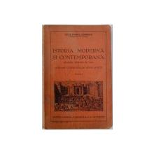 ISTORIA MODERNA SI CONTEMPORANA  - MANUAL PENTRU CLASA VII -A A LICEELOR COMERCIALE DE BAETI SI FETE , EDITIA I  de LUCIA PAMFIL GEORGIAN , 1938