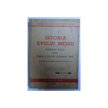 ISTORIA MODERNA SI CONTEMPORANA  - MANUAL UNIC PENTRU CLASA A II- A  DE GIMNAZIU UNIC aparuta sub ingrijirea unui grup de profesori , 1947