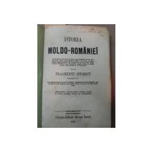 ISTORIA MOLDO ROMANIEI  FRAGMENT ISTORIC, GEORGE IOANID   - 1858