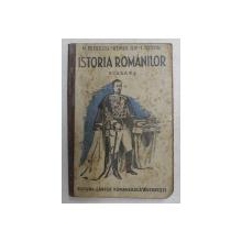 ISTORIA ROMANILOR , CLASA A  - VIII -A SECUNDARA  de MARIN PETRESCU ...ION TOTOIU , 1935