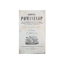 ISTORIA ROMANILOR, ISTORIA PRINCIPATELOR DUNARENE, I. FATU - GALATI, 1853