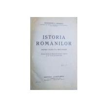 ISTORIA ROMANILOR PENTRU CLASA IV- A SECUNDARA de CONSTANTIN C. GIURESCU , 1939