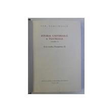 ISTORIA UNIVERSALA A TEATRULUI , VOLUMUL II - EVUL MEDIU , RENASTEREA I de ION ZAMFIRESCU , 1966 , DEDICATIE*