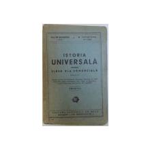 ISTORIA UNIVERSALA PENTRU CLASA VI -A COMERCIALA de EM . DIACONESCU si M. PAPASTOPOL , 1942