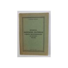 ISTORICUL ASOCIATIEI CULTURALE  ' CERCUL BUCOVINENILOR  ' DIN BUCURESTI 1934 - 1940 de Pr. GHEORGHE VELEHORSCHI , 1940