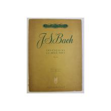 J. S. BACH , INVENTIUNI LA DOUA VOCI , editie ingrijita de OVID DRIMBA , 1965