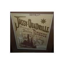 Jassy - Quadrille,partitura compusa de Dimitrie Ionescu - Cromolitografie cca 1900