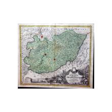 Johann Baptist Homann, Marchionatus Moraviae Circulus Hradistiensis quem mandato caesareo accuratè emensus hac mappa delineatum - Harta cca. 1720