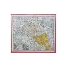 Johann Baptist Homann, Superioris et Inferioris Ducatus Silesiae in suos XVII Minores Principatus et dominia divisi nova tabula - Harta, cca. 1720