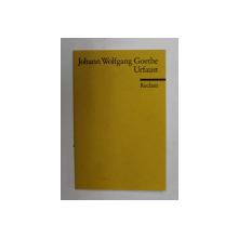JOHANN WOLFGANG GOETHE - URFAUST , 1987