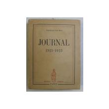 JOURNAL 1921-1923 par CHARLES DU BOS , 1946