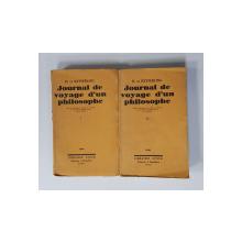 JOURNAL DE VOYAGE D 'UN PHILOSOPHE par H. de KEYSERLING , TOME I - II , 1930