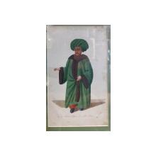 Judecator , Gravura colorata, inceput de secol 19