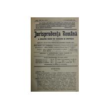 JURISPRUDENTA ROMANA A INALTEI CURTI DE CASATIE SI JUSTITIE , REVISTA , ANUL XXII , COLEGAT DE 20 DE NUMERE SUCCESIVE ,  APARUTE INTRE  1 IANUARIE - 15 DECEMBRIE 1935