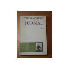 JURNAL-TITU MAIORESCU VOL VI BUCURESTI 1986