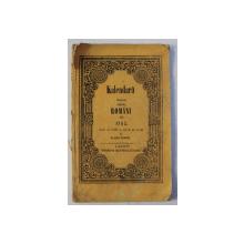 KALENDARU ILUSTRAT PENTRU ROMANI PE 1863 , ANUL AL XXI SI CEL DE PE URMA AL ALBINEI - ROMANE , 1863
