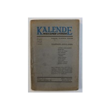 KALENDE - PREOCUPARI LITERARE - REVISTA DE CRITICA , LITERATURA SI ISTORIE LITERARA , ANUL II , NR. 4 - 5  , APRILIE - MAI , 1943