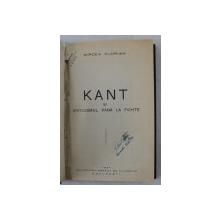 KANT SI CRITICISMUL  PANA LA FICHTE de MIRCEA FLORIAN , 1937