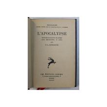 L ' APOCALYPSE - traduction nouvelle du poeme avec introduction et notes de P.L.  - COUCHOUD , 1930