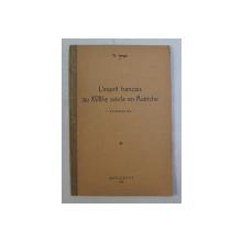 L ' ESPRIT FRANCAIS AU XVIII - e  SIECLE EN AUTRICHE - CONFERENCES par N . IORGA , 1938