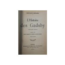 L ' HISTOIRE DES GADSBY - conte sans intrique par RUDYARD KIPLING , 1908